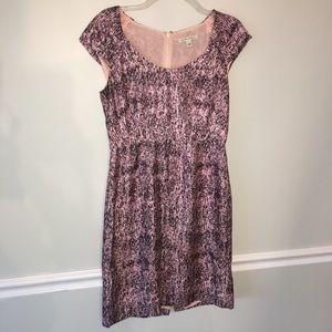 Banana republic purple / black silk fitted dress 6